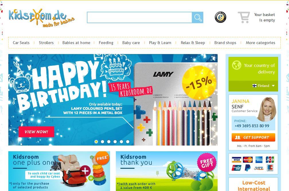 Kidsroom – Vauvatuotteet edullisesti Saksasta
